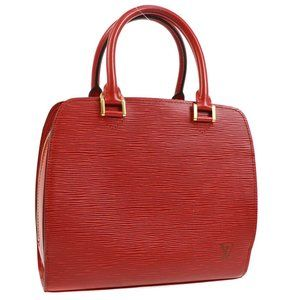 AUTHENTIC LOUIS VUITTON PONT NEUF HAND BAG RED EPI LEATHER M52057